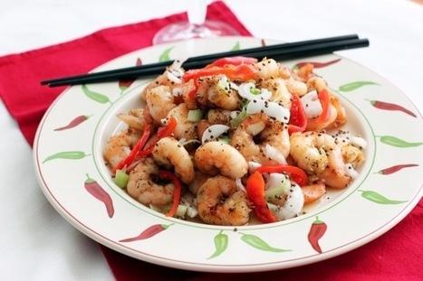 Spicy, Wild Sesame SeedShrimp | À Catanada na Cozinha Magazine | Scoop.it