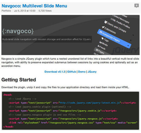 9 jQuery Plugins for Improving Website Navigation - Web Design ... | Web Design, Ecommerce | Scoop.it