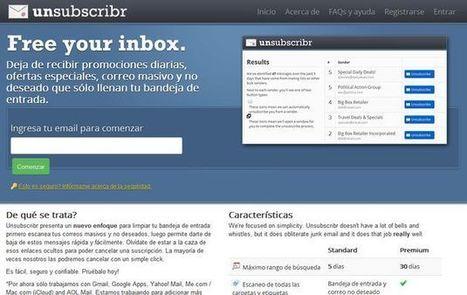 Unsubscribr, deja de recibir múltiples correos no deseados y boletines molestos dándote de baja con un clic | Recull diari | Scoop.it
