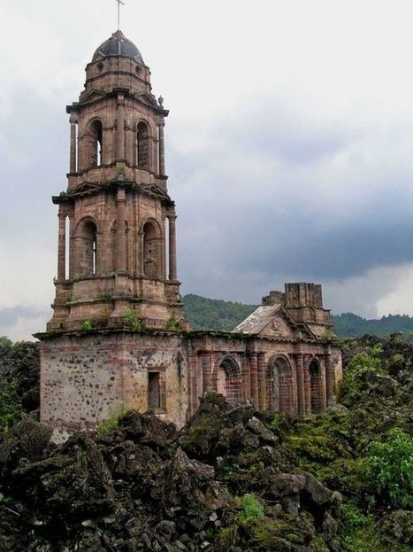 The lava-engulfed ruins of Paricutin cathedral | Michael John Grist | Abandoned Houses, Cemeteries, Wrecks and Ghost Towns | Scoop.it