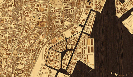 A woodcut inspired map for city streets | StylingM@p | Scoop.it