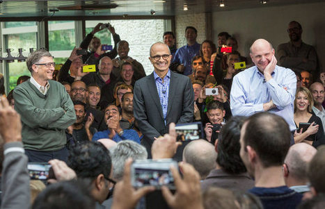 Nadella Gets 'A' For First 100 Days, Success To Be Revealed In Next 90 Days | Microsoft Business Intelligence | Scoop.it