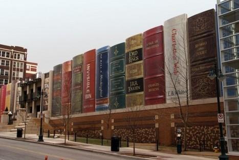 Cette bibliothèque arbore des livres géants en guise de façade | L'usager dans la construction durable | Scoop.it