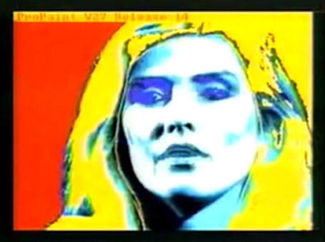 Andy Warhol Digitally Paints Debbie Harry with the Amiga 1000 Computer (1985 ...