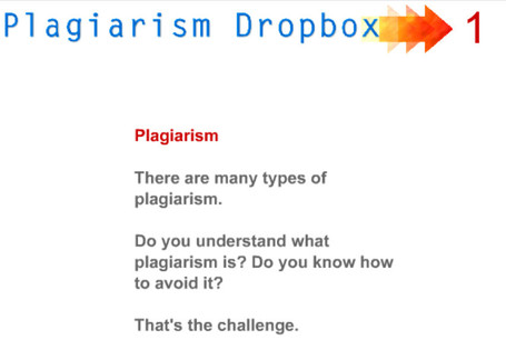 Plagiarism DropBox:  Online Tutorials | The Slothful Cybrarian | Scoop.it