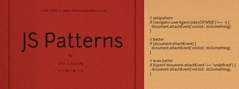 Collection de Patterns JavaScript   Node.js   Scoop.it