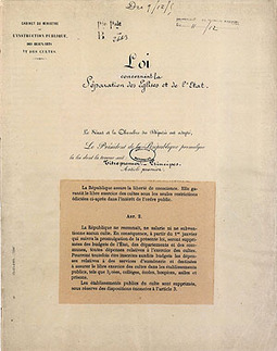 Assemblée nationale - Séparation des Églises et de l'État | La loi de laïcité de 1905 | Scoop.it