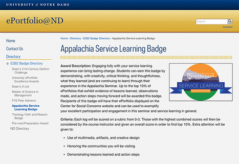 Pairing E-Portfolios With Badges To Document Informal Learning - Campus Technology | Digital Badges | Scoop.it