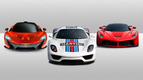 Ferrari LaFerrari vs McLaren P1 vs Porsche 918 Spyder   Cars   Scoop.it