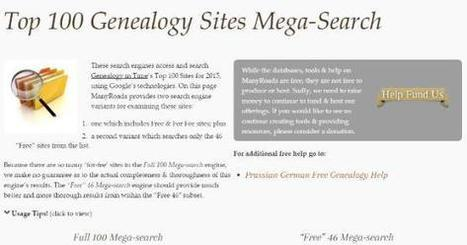 Top 100 Genealogy Sites Mega-Search | GeneaBloggers | Family History | Scoop.it