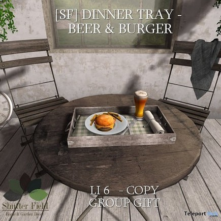 Burger & Beer Tray Group Gift by Shutter Field | Teleport Hub - Second Life Freebies | Second Life Freebies | Scoop.it
