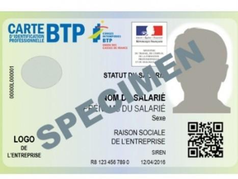 Nouvelle carte d'identification professionnelle du BTP: ce qu'il faut savoir | Dans l'actu | Doc' ESTP | Scoop.it