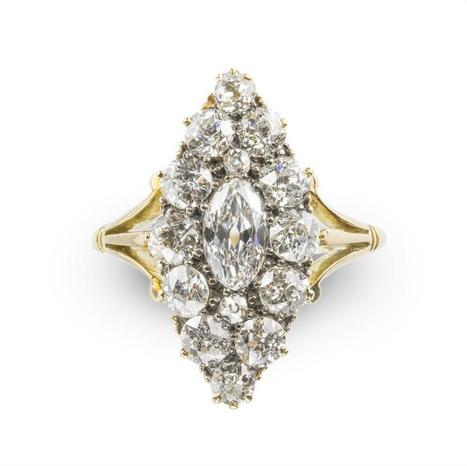 A Victorian marquise-shaped diamond cluster ring - Bentley & Skinner | Bentley And Skinner | Scoop.it
