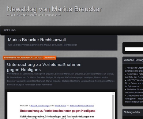 Marius Breucker Rechtsanwalt | Newsblog von Marius Breucker | Dr. Marius Breucker | Scoop.it