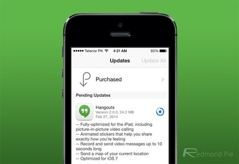 Google Hangouts 2.0 For iOS 7 Released, Adds Full Support For iPad | iGeneration - 21st Century Education | Scoop.it