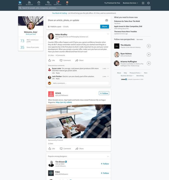 LinkedIn : un nouveau design sur desktop - Blog du Modérateur | TIC et TICE mais... en français | Scoop.it