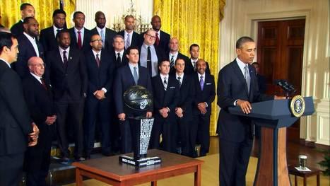 The Miami Heat Visit the White House - Vidéosports - Débats Sports | NBA games | Scoop.it