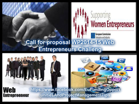 Call for proposal WP2014-15 Web Entrepreneurs Challeng   Projekty EÚ   Scoop.it