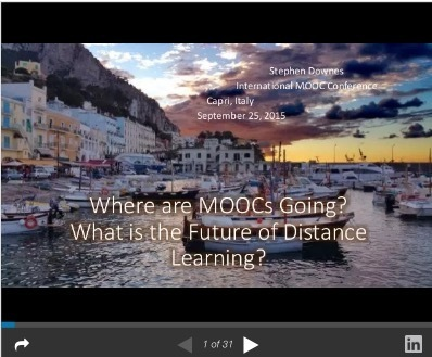 Where are MOOCs Going? What is the Future of Distance Learning? ~ Stephen's Web | APRENDIZAJE | Scoop.it