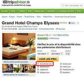 Availpro donne accès au comparateur de tarif de TripAdvisor | news hotelleries | Scoop.it