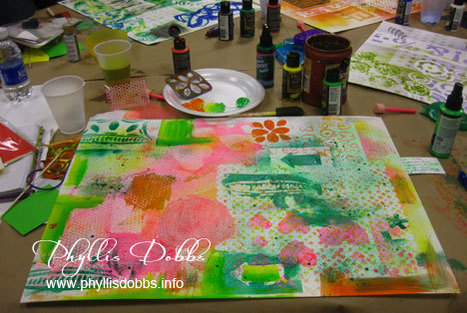 Creating an art journal page while at The Creative... - Phyllis Dobbs Art & Design | Journal For You! | Scoop.it