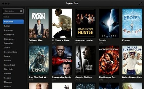 Popcorn Time : le prochain cauchemar d'Hollywood ? | ginette canuel | Scoop.it