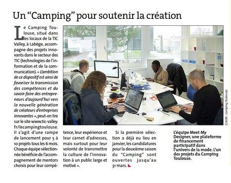 Meet My Designer & Le Camping Toulouse, dans le supplément formation de la Voix du Midi | Salle de presse : Meet My Designer | Scoop.it