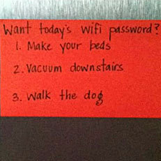 Clever parents exchange Wi-Fi password for chores | Morning Radio Show Prep | Scoop.it