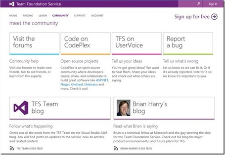 Support on Team Foundation Service - Brian Harry's blog - Site Home - MSDN Blogs | Alkampfer's place | Scoop.it