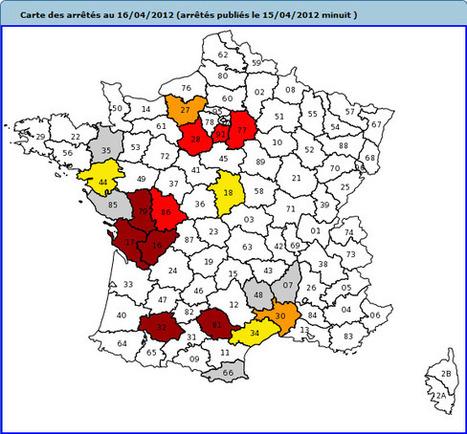 Sécheresse : 48 arrêtés ont été pris dans 14 départements, au 16avril (ministère de l'Ecologie) | Terroir | Scoop.it