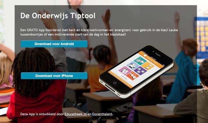 De Onderwijs Tiptool: Een GRATIS App boordevol met kant en klare werkvormen en 'energizers' voor gebruik in de klas!   Edu-Curator   Scoop.it