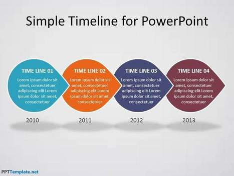 Free Timeline PPT Template | Business PPT Templates | Scoop.it