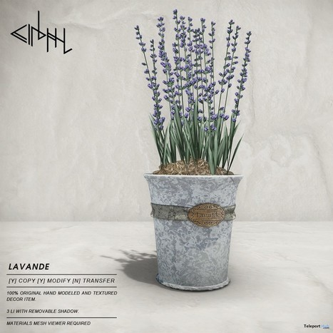 Lavender Plant Round 2 July 2015 Group Gift at Cosmopolitan BiWeekly Event by cinphul | Teleport Hub - Second Life Freebies | Second Life Freebies | Scoop.it