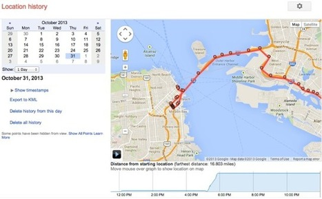 Google's Location History Browser Is A Minute-By-Minute Map Of Your Life | TechCrunch | Mediawijsheid ed | Scoop.it