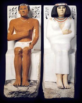Línea Serpentinata: Hombre y mujer en el arte egipcio | Historia del arte | Scoop.it
