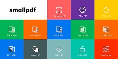 SmallPDF : 12 outils gratuits de traitement des PDF en 1 service en ligne | Entrepreneurs du Web | Scoop.it