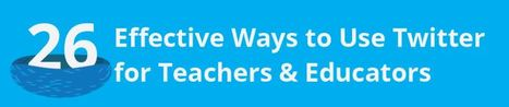 26 quick tips for #teachers using Twitter - Daily Genius | Educational Use of Social Media | Scoop.it