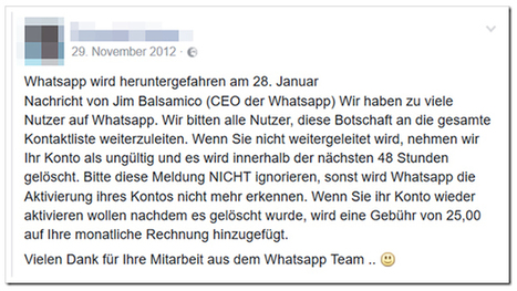 Fiese Falle in WhatsApp: Diese Nachricht sollten Sie unbedingt löschen | #SocialMedia #digcit #DigitalCitiZEN | Social Media and its influence | Scoop.it