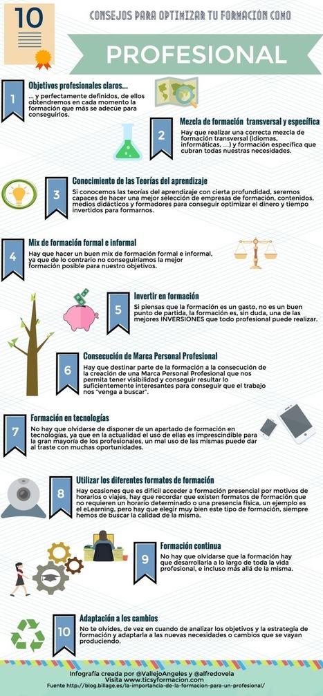 10 consejos para optimizar tu formación como Profesional #infografia #rrhh | Educacion, ecologia y TIC | Scoop.it