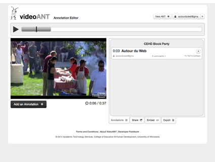 VideoANT, service en ligne d'annotation vidéo YouTube | Autour du Web | Au fil du Web | Scoop.it