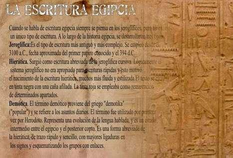 La Escritura en Egipto Antiguo Jeroglifica-Demotica-Hierática | Escritura en la Edad del Bronce | Scoop.it