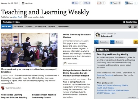July 16 - Teaching and Learning Weekly is out | Studying Teaching and Learning | Scoop.it
