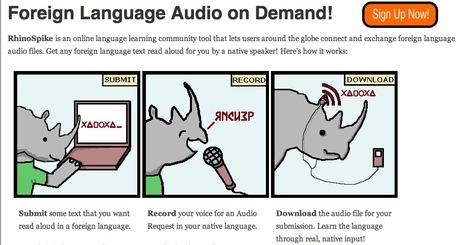 RhinoSpike : Foreign Language Audio on Demand!   eDidaktik   Scoop.it