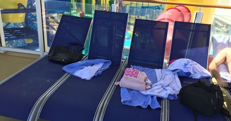 What to do about  lounge chair hogs on cruise ships?   Cruise Industry Trends   Scoop.it