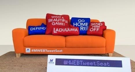 MWEB Tweet Seat : un canapé connecté pour le football !   Articles Objets Connectés   Scoop.it