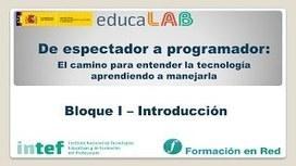 """Curso """"De espectador a programador"""" - YouTube   Programación, Tecnología y Robótica Educativa   Scoop.it"""