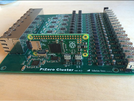 This is What a 16 Raspberry Pi Zero Cluster Board Looks Like | Embedded Systems News | Scoop.it
