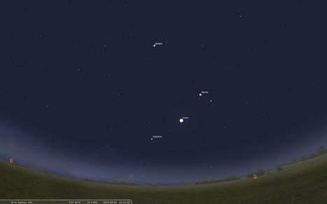 Scienzaltro - Astronomia, Cielo, Spazio: Saturno, Luna, Marte in fila per tre riporto di uno   Planets, Stars, rockets and Space   Scoop.it