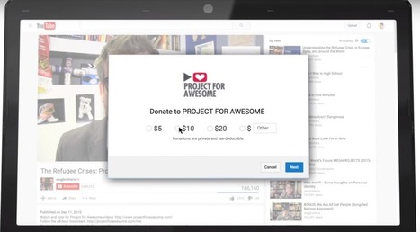 YouTube's New Donation Cards Help Video Creators Raise Money For Charities | #ShareWisely | Scoop.it
