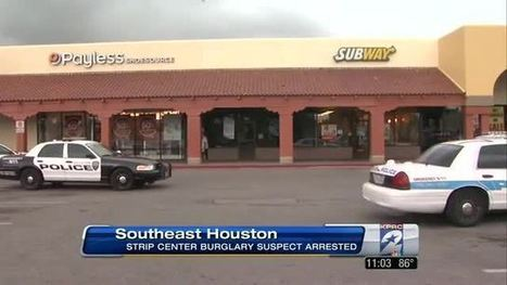 Suspected burglar arrested after cutting through walls of strip center - KPRC Houston | Burglar stuck in chimney | Scoop.it